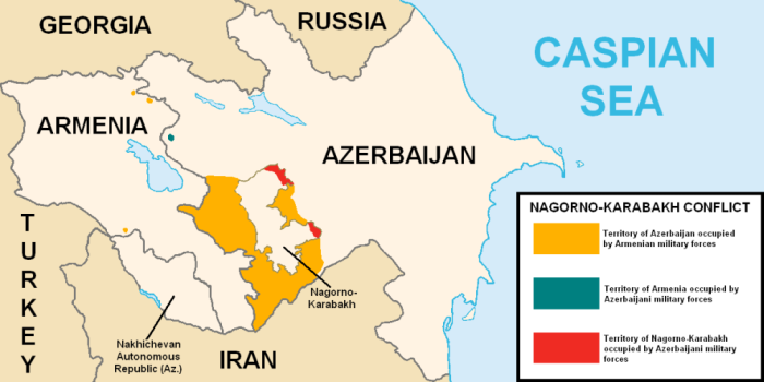 Map Artsakh Nagorno Karabakh Caucasus