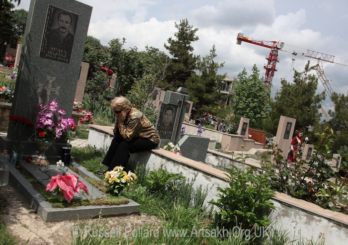 Stepanakert cemetery Artsakh Nagorno Karabakh