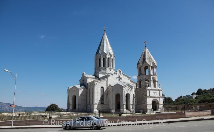 Ghazanchetsots cathedral Shushi Artsakh Nagorno Karabakh