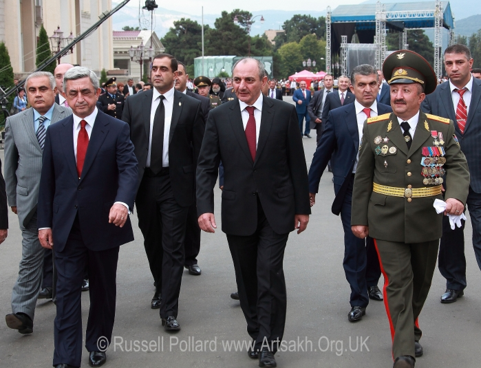 Bako Sahakyan Sahakian Serzh Sargsyan President Artsakh Inauguration election Stepanakert Nagorno Karabakh