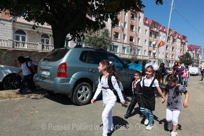 children school Stepanakert Artsakh Nagorno Karabakh