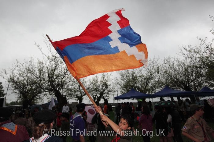 Flag Artsakh Nagorno karabakh shushi stepanakert